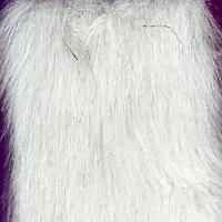 white mink fake fur fabric
