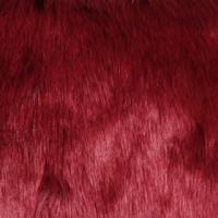 deep red faux fur fabric