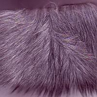 grey shag fake fur fabric